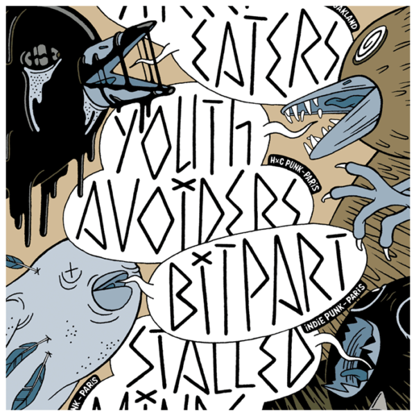 Street Eaters, Youth Avoiders, Bitpart, Stalled Minds ~ 11/2014 ~ Saint-Ouen (Fr)